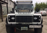 Folding front head lamps guard Land Rover Defender 90/110
